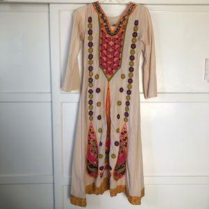 Beautiful vintage bohemian festival maxi dress